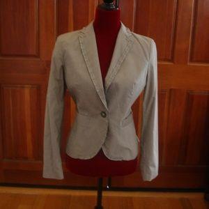 BANANA REPUBLIC Women's Stretch Sz 2 Gray Blazer
